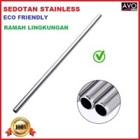 sedotan stainless lurus ramah lingkungan steel straw eco friendly