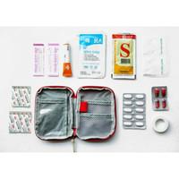 Kotak Tas Mini Tempat Obat P3K First Aid Bag Mini pertolongan pertama