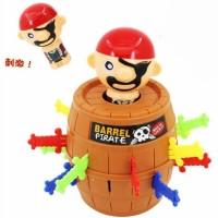 Mainan anak Crazy Pirates Roulette Lucky Barrel Running Man Game