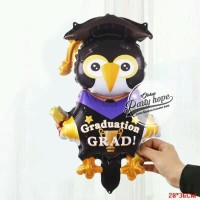 Balon Foil Graduation Pinguin / Balon Foil Wisuda Penguin wisuda mini