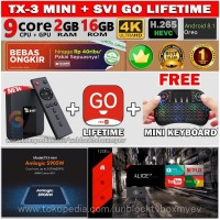 SVICLOUD SVI GO TX3 MINI TVBOX 2/16GB ANDROID 8.1 LIFETIME
