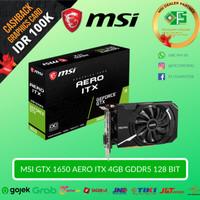 MSI Geforce GTX 1650 Aero ITX 4G OC - VGA nVidia GTX1650 4GB GDDR5
