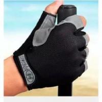 Sarung Tangan Sepeda Gym Half Finger Hiking Size L