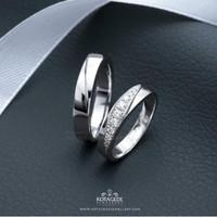 Cincin Kawin/Tunangan Emas Putih Standard EP00141