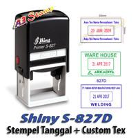 Stempel Shiny S 827D Tanggal Otomatis Custom Text