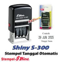 Stempel Tanggal Otomatis 3mm Shiny S-300 Self-Inking