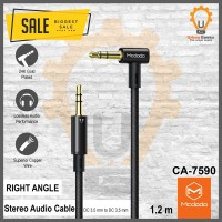 Mcdodo Kabel Audio AUX Male to male DC 3.5mm Right Angle 1.2m