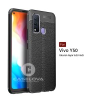 TPU Case Autofocus Leather Vivo Y50 2020 ( 6.53 inch )