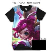 kaos 3d game mobile legend legends NANA FELINE WIZARD - 158