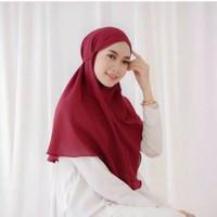 Bergo maryam diamond non pad tali / hijab instan maryam