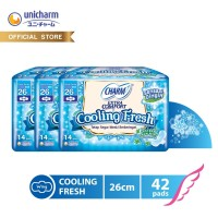Charm Pembalut Cooling Fresh Wing Long 26cm 14 pads - 3 packs