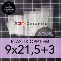 OPP LEM 9 x 21,5 +3 cm Plastik Bening Seal Bungkus Roti Undangan Baju