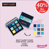 (READY JKT!) Beauty Glazed 9 Warna Eyeshadow Planet Edition - NEPTUNE