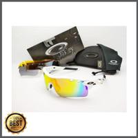 Kacamata sepeda Radar Lock frame putih 5 lensa - sunglasses diskon