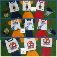 Baju Bayi Laki-Laki Stelan Pendek Motif dan Warna RANDOM/ACAK 0-8 Bln
