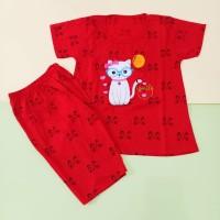 Stelan Baju Anak Perempuan Jumbo 7-13 Tahun Motif Cat Bordir