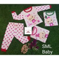 Baju Tidur Bayi Perempuan Lengan Panjang Katun 0-8 Bulan Motif bear
