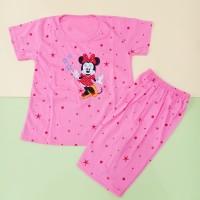 Baju Stelan Pendek Jumbo Anak Perempuan 7-13 Tahun Motif Minnie