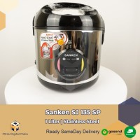 Sanken SJ 135 SP Magic Com Rice Cooker 3 in 1 Hitam [1 Liter]