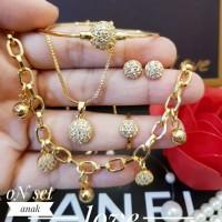 xuping set perhiasan anak lapis emas 24k K1802