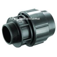 "Male Adaptor HDPE 25 mm x 3/4"" inch"