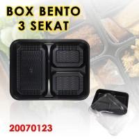 Kotak Bento sekat 3 - Bento Tray - Catering Box - Kotak Bekal / tray