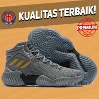 Sepatu Basket Sneakers Adidas Pro Bounce 2018 Grey Gold Black Pria