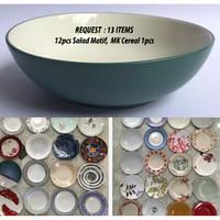 REQUEST Salad Motif 12pcs Plus MK Cereal 1pcs | Ekspor Murah