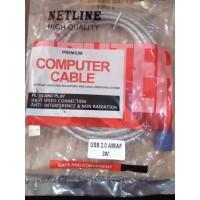 Kabel USB perpanjangan 3 meter USB 2.0 Netline / kabel usb extender