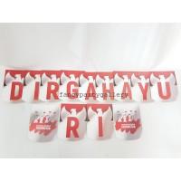 Banner DIRGAHAYU RI HUT RI - bunting flag HUT RI DIRGAHAYU