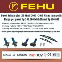Paket bohlam Fehu plus LED Xtrail T30 T31 2000 - 2013 sinar putih
