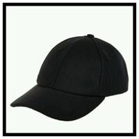 Topi baseball cap polos warna hitam topi basebal cap pria dan wanita