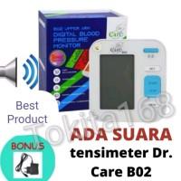 TENSIMETER DiGITAL Dr Care B02 Ada Fungsi Suara Indonesia + Adaptor