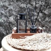 Lentera tempat lilin mini warna hitam