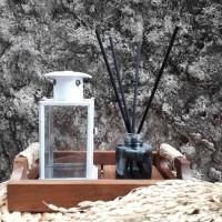 Lentera/Tempat lilin mini warna putih
