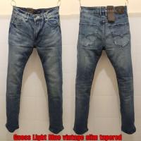 Celana panjang jeans GUESS PREMIUM BLUE BLACK worn washed DENIM Import