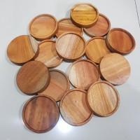 Rustic round coaster / tatakan gelas kayu / coffee tray diameter 10cm