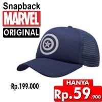 Snapback Topi Trucker Dewasa Navy Star Captain America cap Original