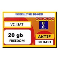 VOUCHER PAKET DATA INDOSAT FREEDOM INTERNET 20 GB ( VC VO ISAT IM3 )