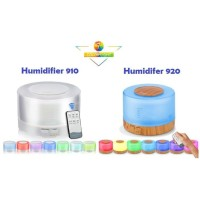 Humidifier Aromatherapy Diffuser Model Kayu 500ml 7 Color LED Light