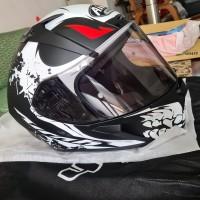 Helm Airoh Valor Bone Matt XXL | Free Smoke Visor Helmet helem