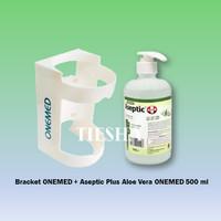 OneMed Bracket dan Hand Sanitizer Aseptic Plus 500ml Pump