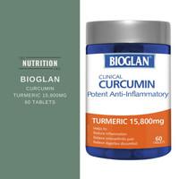 Bioglan Clinical Curcumin (60) Turmeric 15800mg Peradangan