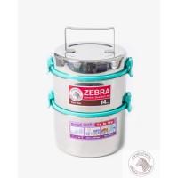 Zebra Food Carrier 14x2 Smart Lock II Blue IH (150257) / Rantang Makan