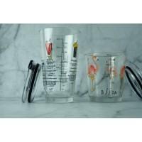 Gelas Tumbler Ukur dengan Penutup Measuring Tumbler Cup Glass