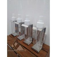 Breket Hand Sanitizer Untuk Motor + Botol Spray 100ml Stainless 304