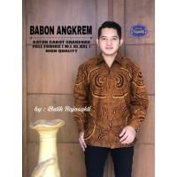 Kemeja Batik Pria Dewasa BABON ANGKREM Lengan Panjang By RAJA SAKTI