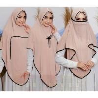 Jilbab Hijab Kerudung French Khimar Cadar Niqab Fatimah Tali Instan