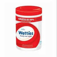 Mitu Wetties Family Wet Wipes Fresh Clean (90 Lembar) Original 100%