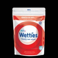 Mitu Wetties Family Wet Wipes Fresh Clean Refill (90 Lembar)